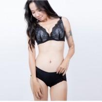 內衣/寧靜深V集中設計 薄襯 吸濕 不悶熱 81808【小百合】台灣製