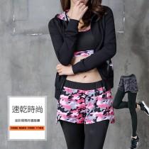 假兩件運動長褲/ 舒適 透氣 柔軟 排汗 休閒運動 瑜珈 居家 【小百合】126