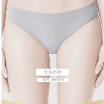 內褲 /素素君子竹碳纖維 無縫 女低腰高衩 一體成形三角內褲   台灣製