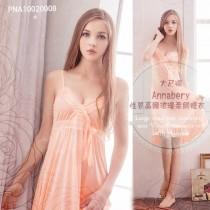 睡衣/小百合大尺碼Annabery性感V領高腰浪漫柔緞睡衣 PNA10020008