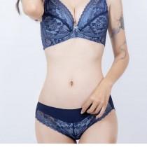 內褲/蕾絲 舒適好穿 親膚柔軟 深灰 寶藍【小百合】U8882台灣製